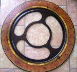 Äquatorring Globus Bar Da Vinci Rust
