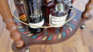 Globus Bar Minibar Enea Zoffoli untere Ablage Flaschen Minibar Barwagen 8
