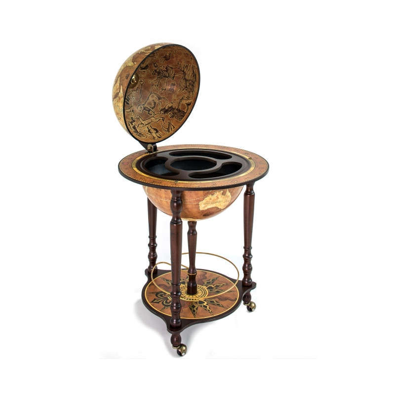 zoffoli barglobus standglobus mit lenkrollen und getraenkefach da vinci rust 4 globus. Black Bedroom Furniture Sets. Home Design Ideas