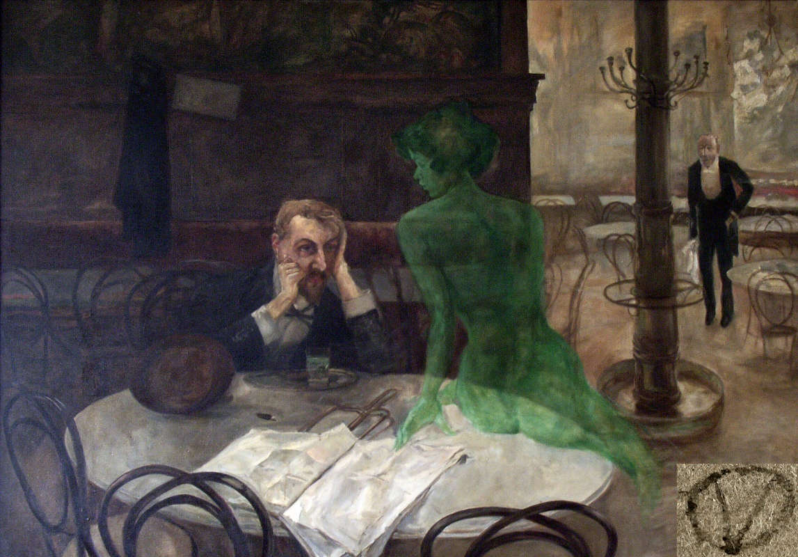 Absinth trinken, Gemälde, Der Absinthtrinker