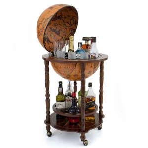 Globus Minibar Enea befüllt mit Getränken