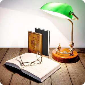 Herrenzimmer einrichten, Bankerlampe von Relaxdays
