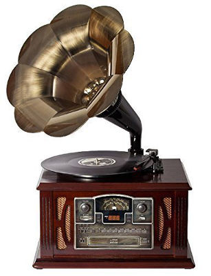 Herrenzimmer einrichten, Modernes Grammophon, Musikanlage, Retro-Look