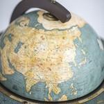 Weltkugel bar Da Vinci Blue Dust Globus