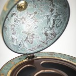 Weltkugel bar Da Vinci Blue Dust Details