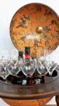 Globus Bar Minibar Enea Zoffoli Innenraum Flaschen Gläser Minibar Barwagen 12