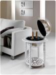 Barglobus modern weiß Elegance, moderne Inneneinrichtung