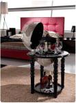 Globusbar schwarz Elegance, moderne Inneneinrichtung
