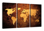 Herrenzimmer einrichten Visario Weltkarte Designelement